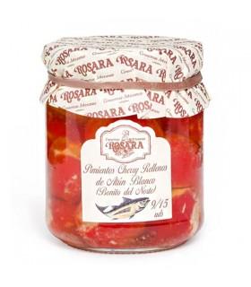 Pimientos cherry rellenos de bonito del norte 250g Rosara
